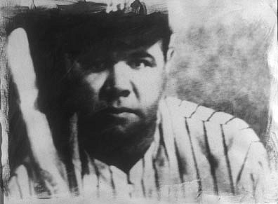 GARY EMRICH, BABE RUTH photo emulsion transfer/ paper