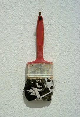 GARY EMRICH, #4 HOT TO HANDLE photo emulsion transfer / paintbrush