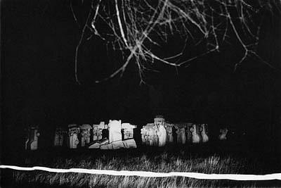 CHUCK FORSMAN, Carhenge, near Alliance, Nebraska black & white photograph