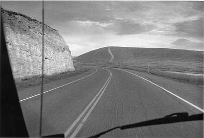 CHUCK FORSMAN, Double take, central Utah black & white photograph