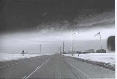 CHUCK FORSMAN, Glory Road, Miles City, Montana black & white photograph