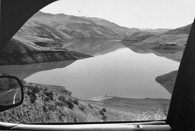 CHUCK FORSMAN, Reservoir, Hells Canyon, Idaho/ Oregon border black & white photograph