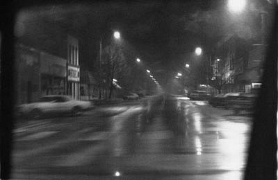 CHUCK FORSMAN, Street Lights, Loveland, Colorado black & white photograph