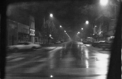 CHUCK FORSMAN, Street Lights, Loveland, Colorado black & white photograph