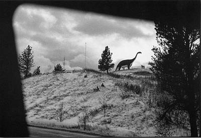 CHUCK FORSMAN, Visitors, Rapid City, South Dakota black & white photograph