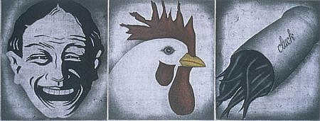 RON FUNDINGSLAND, CLUCK color intaglio