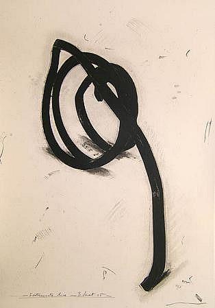 BERNAR VENET, INDETERMINATE LINE 33/45 by Art of This Century silkscreen on paper