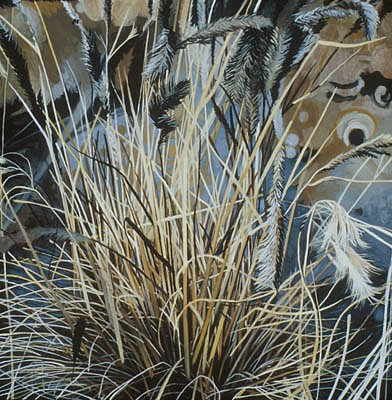 KAREN KITCHEL, PROMONTORY 19 oil on wood
