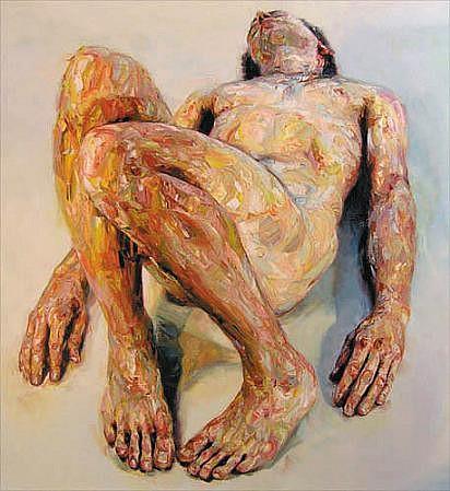 STEFAN KLEINSCHUSTER, RUBRIC V oil on canvas