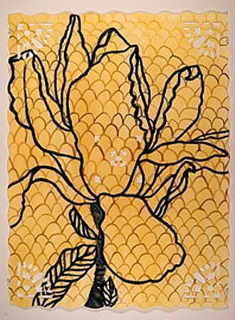 ANA MARIA HERNANDO, MAGNOLIA POD X SOULANGEANA II acrylic, inks, oil on paper