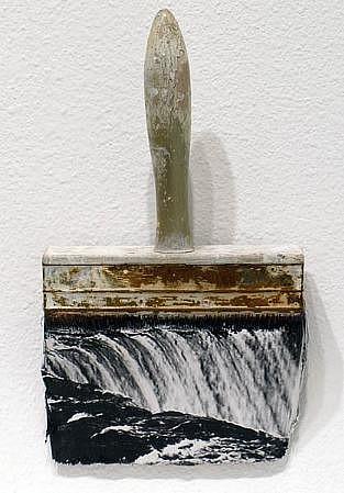GARY EMRICH, NIAGRA #3 photo emulsion transfer / paintbrush