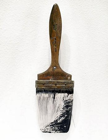 GARY EMRICH, NIAGRA #1 photo emulsion transfer / paintbrush