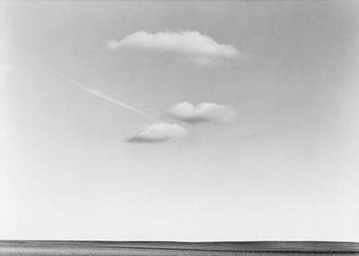 KEVIN O'CONNELL, 3 CLOUDS AND JET TRAIL ED. 6/25 silver gelatin print