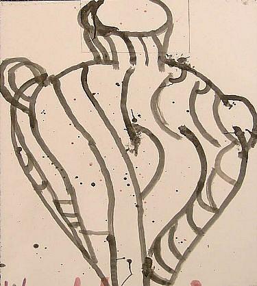 GARY KOMARIN, VESSEL 2000 acrylic on paper