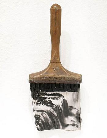 GARY EMRICH, NIAGRA #4 photo emulsion transfer / paintbrush