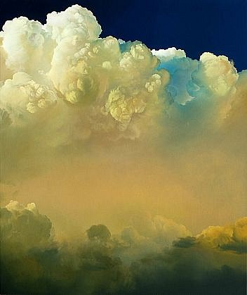 IAN FISHER, ATMOSPHERE NO. 44 (THEATER) (SOLD) oil on canvas
