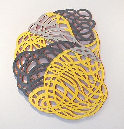 LINDA FLEMING, FIREBALL powder-coated steel