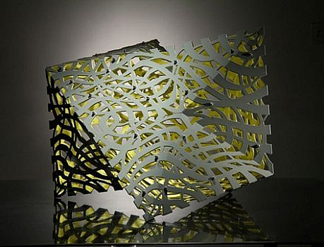 LINDA FLEMING, METEORITE powder coated steel