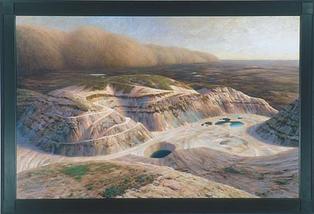 CHUCK FORSMAN, Gold & Dust oil on panel