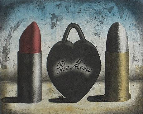 RON FUNDINGSLAND, IF HE CAN'T HAVE YOU aquatint and etching