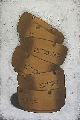 RON FUNDINGSLAND, LUCKY STRIKES aquatint and etching