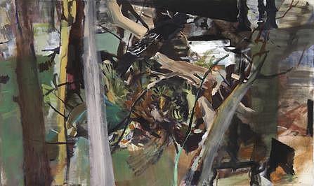 ALLISON GILDERSLEEVE, HEARTH oil and alkyd on canvas