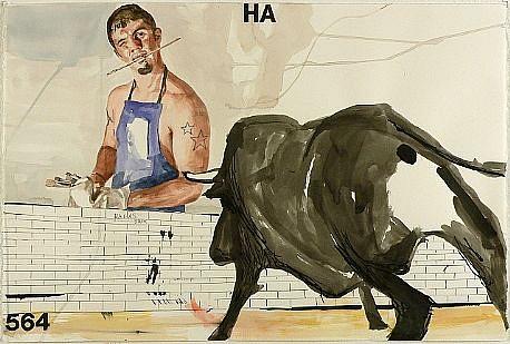 JACK BALAS, HA watercolor