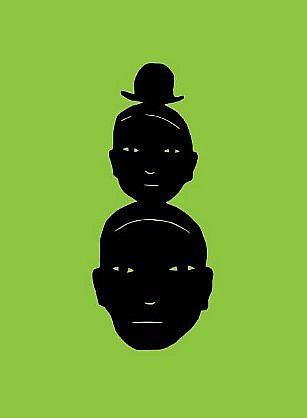 TOM NUSSBAUM, HAT HEADS 8/20 digital print