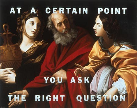 WES HEMPEL, At A Certain Point You Ask The Right Questions oil on canvas