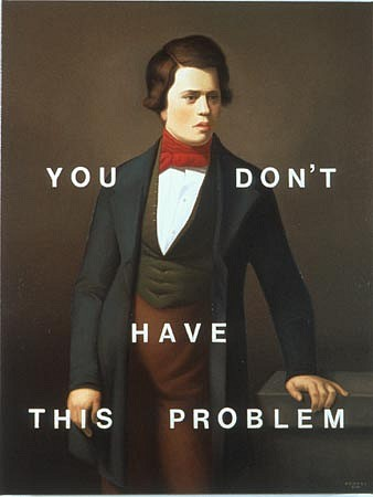WES HEMPEL, You Don't Have This Problem oil on canvas