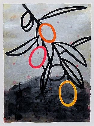 ANA MARIA HERNANDO, ESTA NOCHE QUE PERDONA (THIS NIGHT THAT FORGIVES) acrylic and acrylic ink on paper