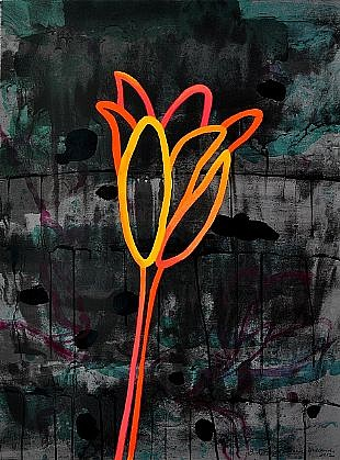 ANA MARIA HERNANDO, NIGHT FLOWER II 15/25 color lithograph