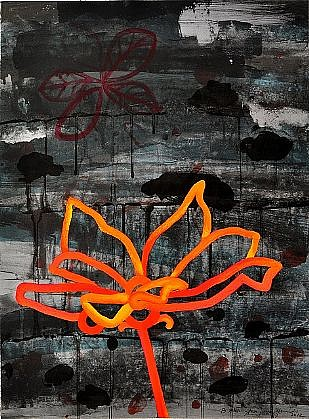 ANA MARIA HERNANDO, NIGHT FLOWER I 15/25 color lithograph
