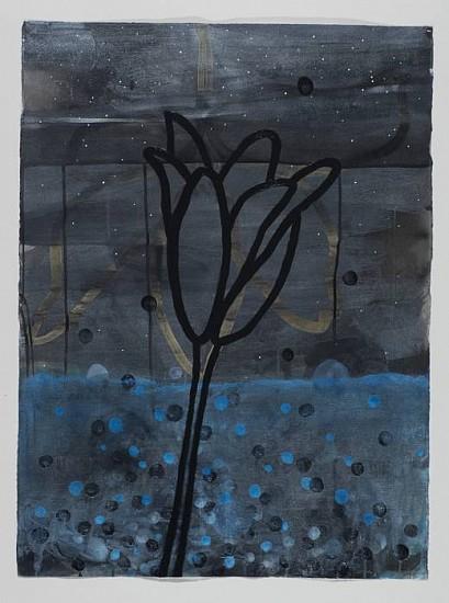 ANA MARIA HERNANDO, SOÑANDO AZUL (DREAMING BLUE) acrylic and acrylic ink on paper