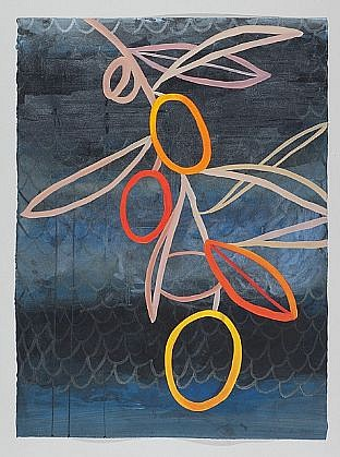 ANA MARIA HERNANDO, THE ILLUMINATED GARDEN, II acrylic and acrylic ink on paper