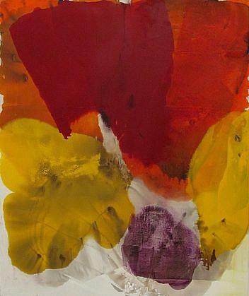 DIRK DE BRUYCKER, HOTSPOT asphalt, cobalt drier, gesso and oil on canvas
