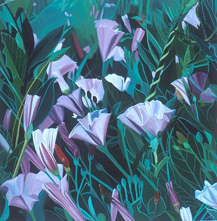 KAREN KITCHEL, Field Bindweed #5 oil on wood