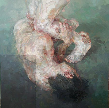 STEFAN KLEINSCHUSTER, Symbiotus IV oil on canvas