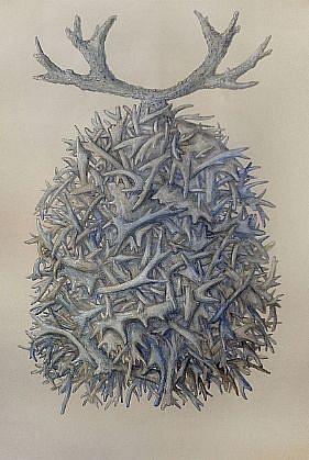 KAHN + SELESNICK, RASTEL DER HORNER acrylic on Arches paper