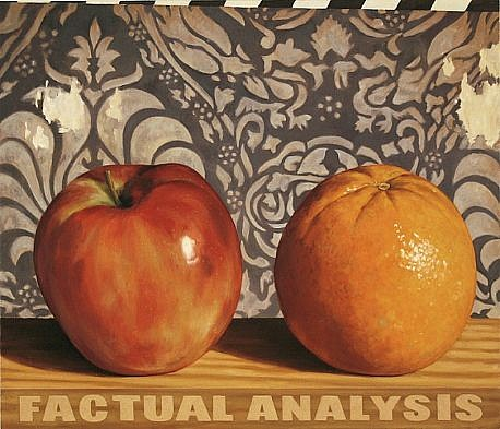 JERRY KUNKEL, APPLES TO ORANGES oil on canvas