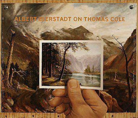JERRY KUNKEL, ALBERT BIERSTADT ON THOMAS COLE 2 oil on canvas