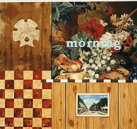 JERRY KUNKEL, MORNING (JAN VAN HUIJSUM) oil on canvas