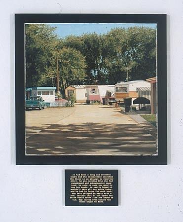 JERRY KUNKEL, Short Stories: One Night Together oil on panel & lazer transfer