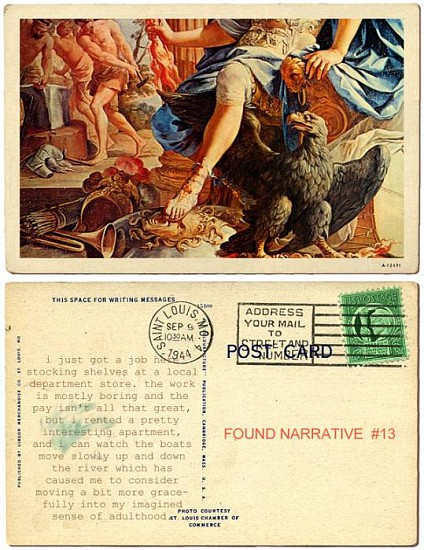 JERRY KUNKEL, FOUND NARRATIVE #13 ink jet print on watercolor paper
