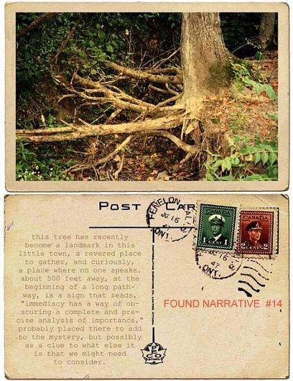 JERRY KUNKEL, FOUND NARRATIVE #14 (TREE) ink jet print on watercolor paper