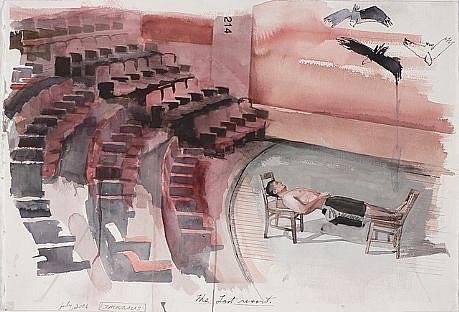 JACK BALAS, THE LAST RESORT watercolor
