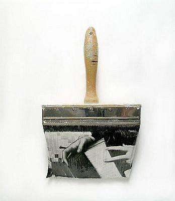 "GARY EMRICH, LEGERDEMAIN #3 ""SLIIGHT OF HAND"" photoemulsion on paintbrush"