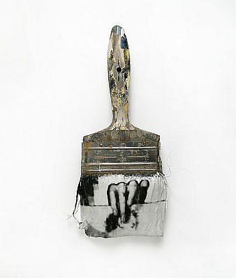 "GARY EMRICH, LEGERDEMAIN #5 ""SLIIGHT OF HAND"" photoemulsion on paintbrush"