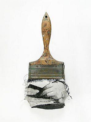 "GARY EMRICH, LEGERDEMAIN #6 ""SLIIGHT OF HAND"" photoemulsion on paintbrush"