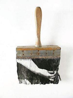 "GARY EMRICH, LEGERDEMAIN #7 ""SLIIGHT OF HAND"" photoemulsion on paintbrush"